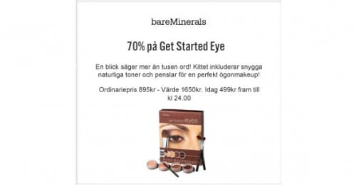 14:e December – Get Started Eye Kit -70%