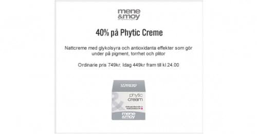 4:e December Lucköppning – Phytic Cream -40%