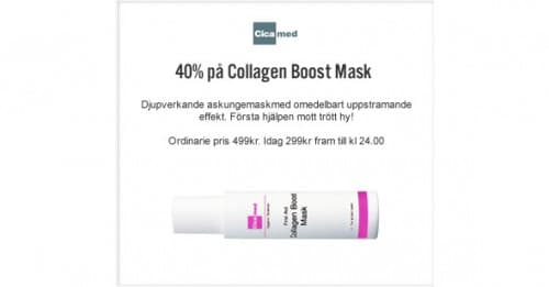 7:e December LUCKÖPPNING – Collagen Boost Mask – 40%