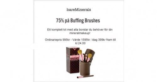 8:e December Lucköppning Buffing Brushes bareMinerals -75%