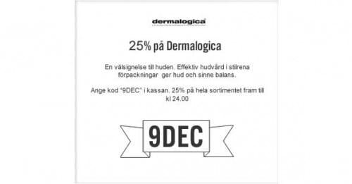 9:e December Lucköppning – Dermalogica -25% på hela sortimentet