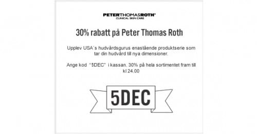 5:e December Lucköppning – Peter Thomas Roth – 30%