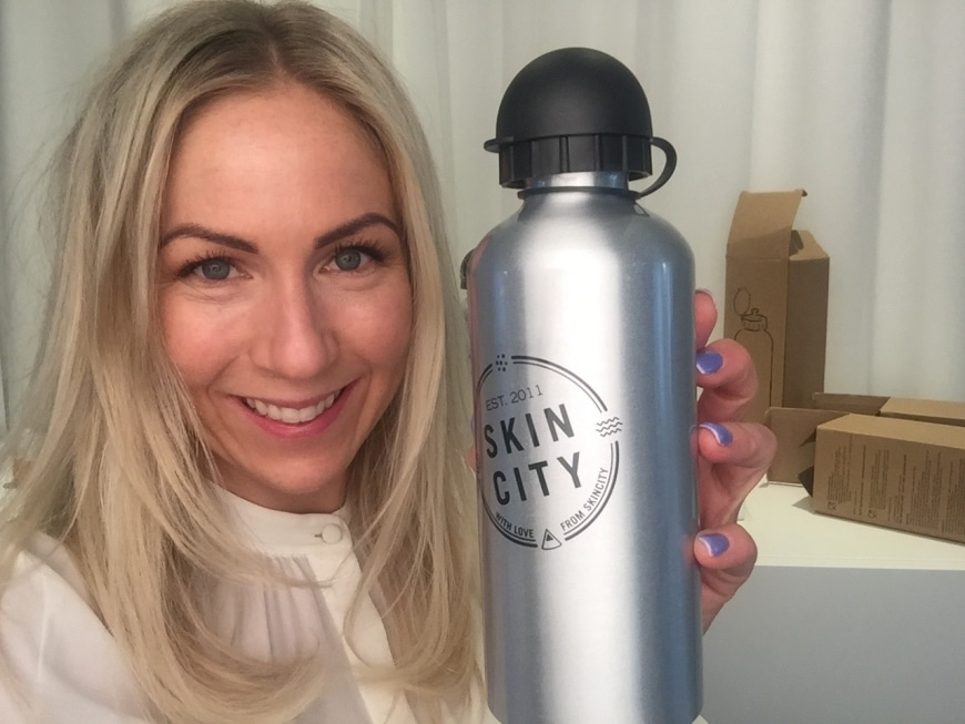 Vinnarna av Skincitys Water bottle!