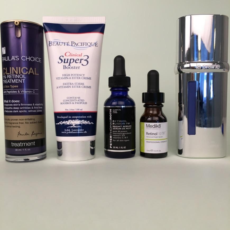 Produkter med retinol och andra former av A-vitamin
