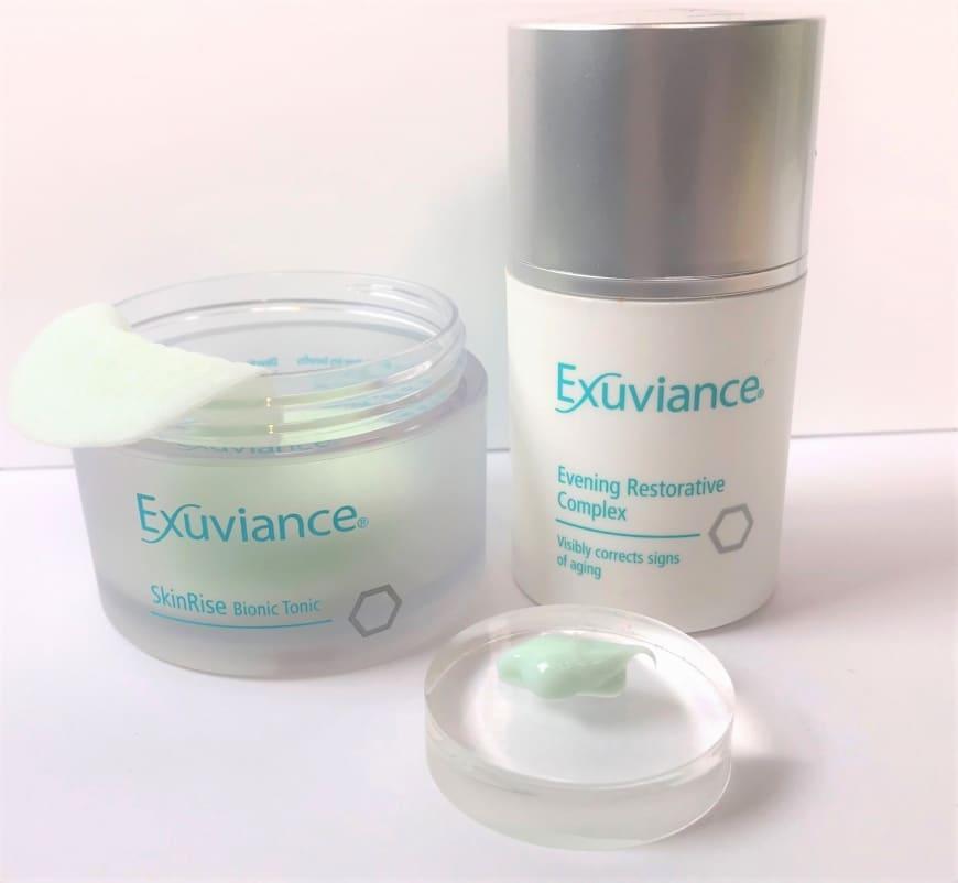 Exuviance SkinRise Bionic Tonic & Evening Restorative Complex med PHA