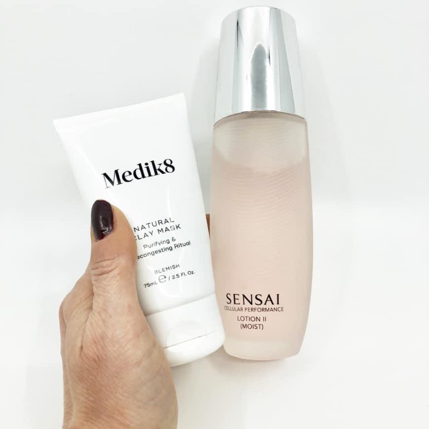 Medik8 Clay mask och Sensai cellular performance lotion 2