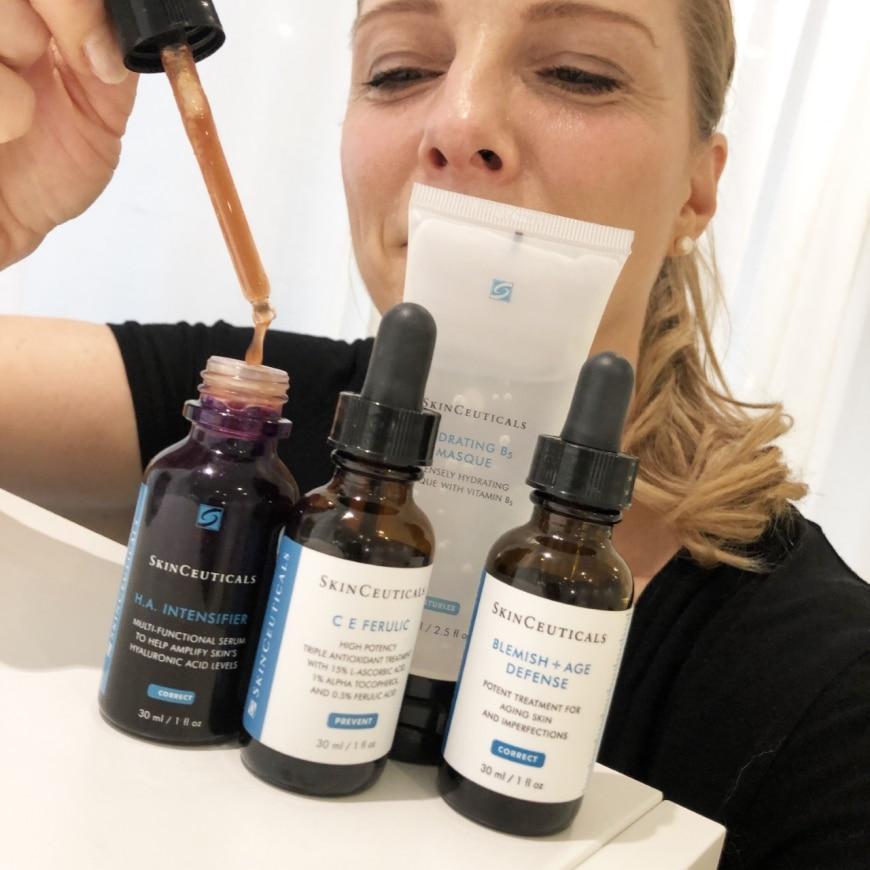 Yasemin med SkinCeuticals produkter