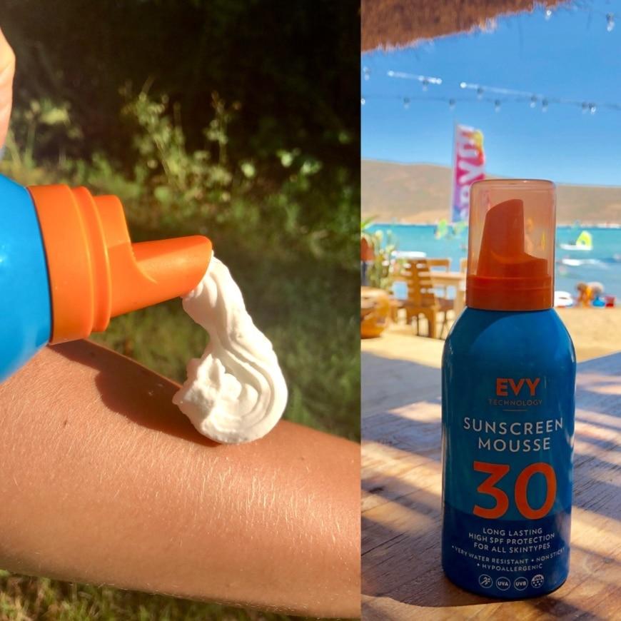 EVY solskydd flaska och konsistens