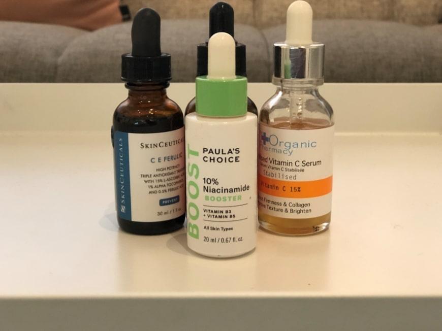 Olika typer av serum som hjälper till att reducera ärr