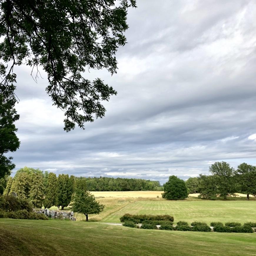 Trädgårdsbild Tidö slott