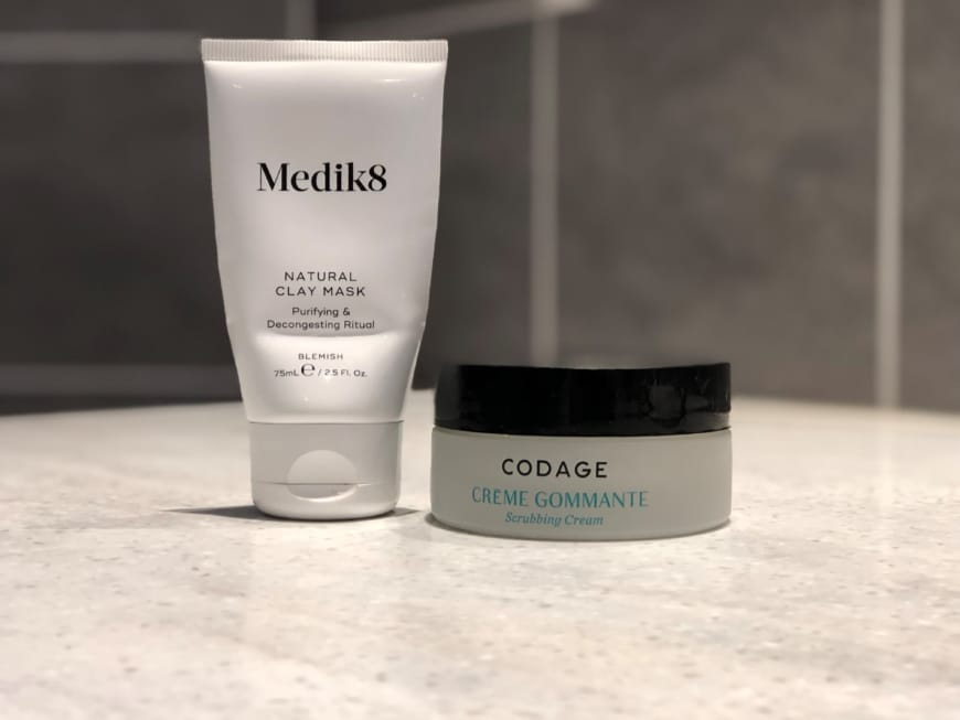 Medik8 Natural clay mask, Codage Scrubbing Cream