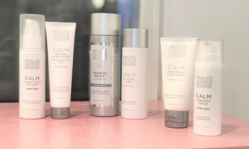 Bilder på produkter som passar för en roscea hud