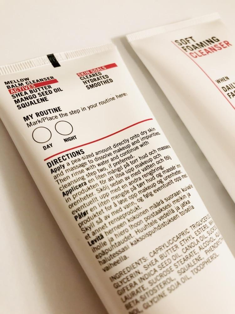 Skincity Skincare baksida av förpackningen