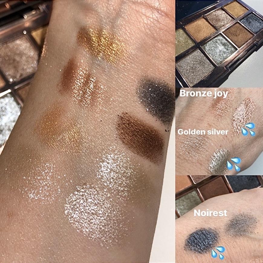 Fine Art Eye Shadow palette swatches