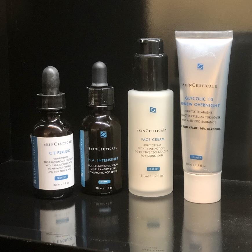 C E Ferulic, H.A Intensifier, Face Cream och Glycolic 10 renew overnight