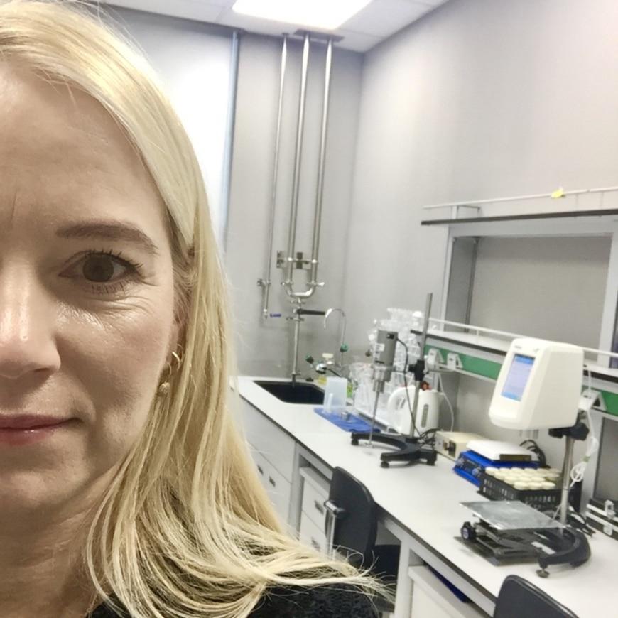 Sofia i labbmiljö