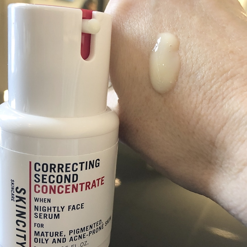 Correcting second concentrate
