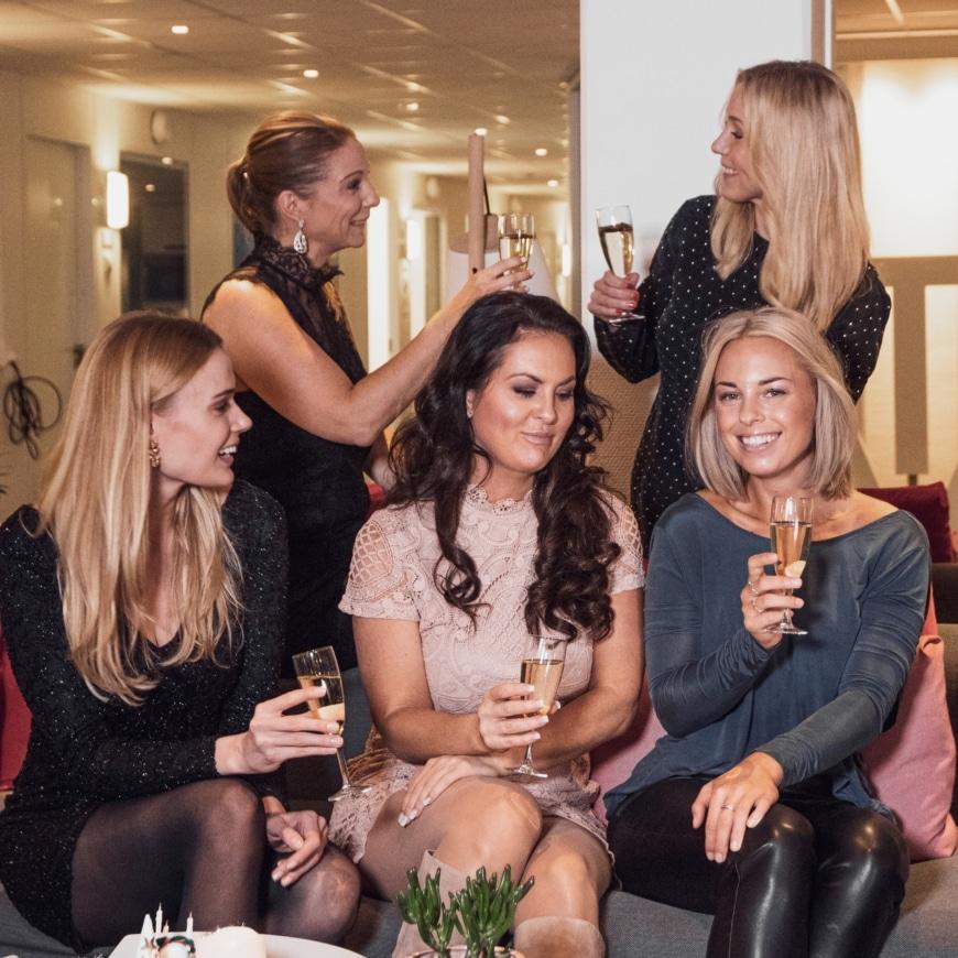 Yasemin, Annica, Sara, Johanna och Frida