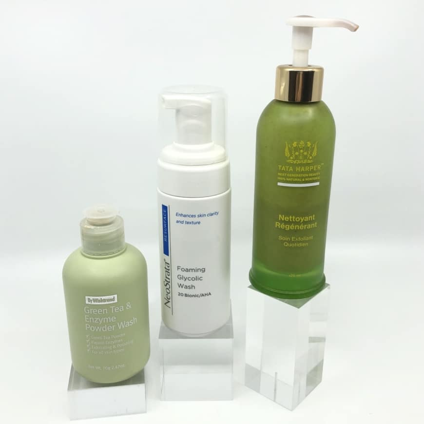 Green Tea & Enzyme Powder Wash, Foaming Glycolic Wash och Regenerating Cleanser