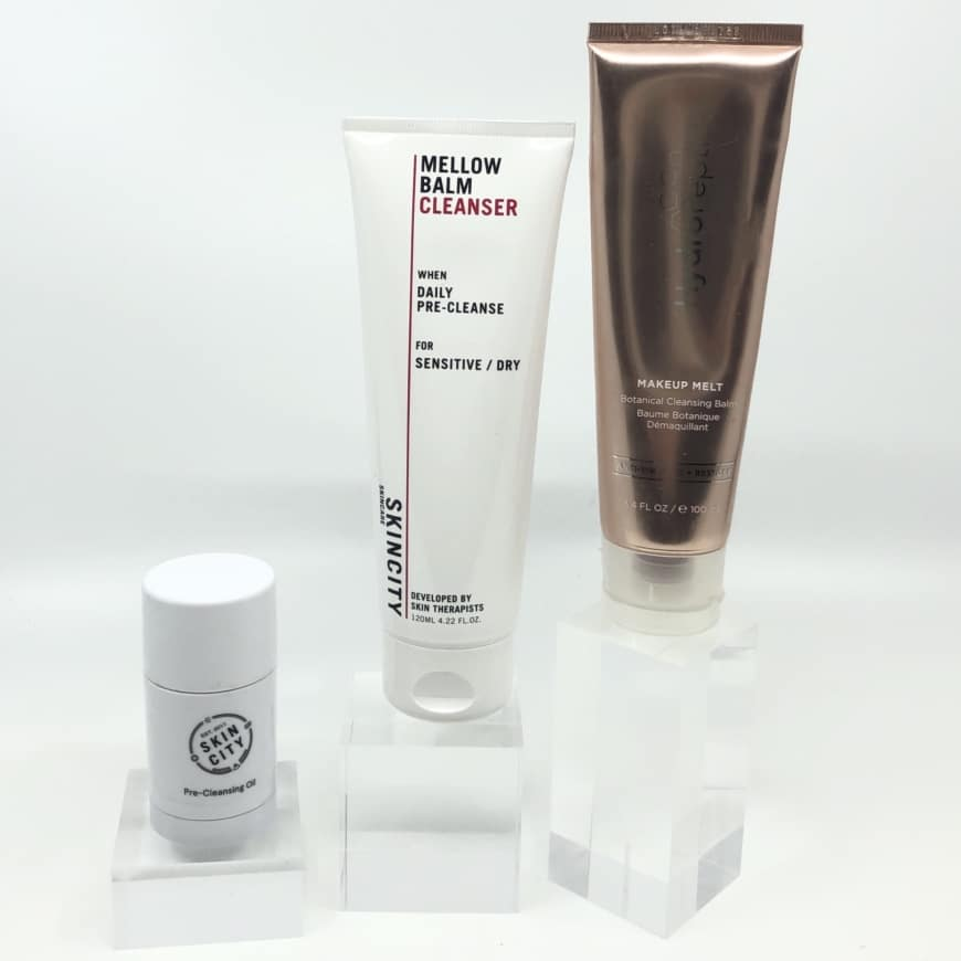 Precleanse Pre-Cleansing oil, Mellow Balm Cleanser, Makeup Melt