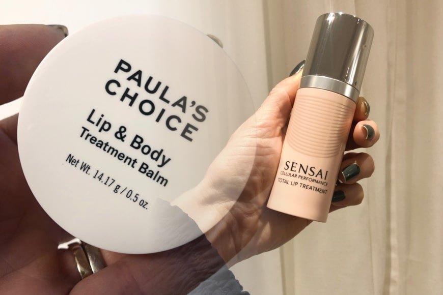 Paula´s Choice Lip & Body treatment balm och Sensai Total Lip Treatment