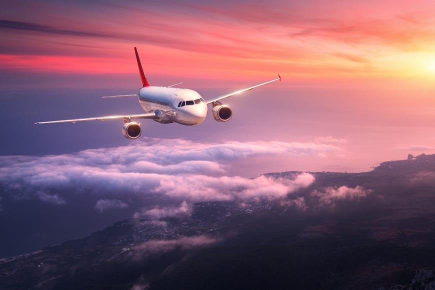Bild på flygplan