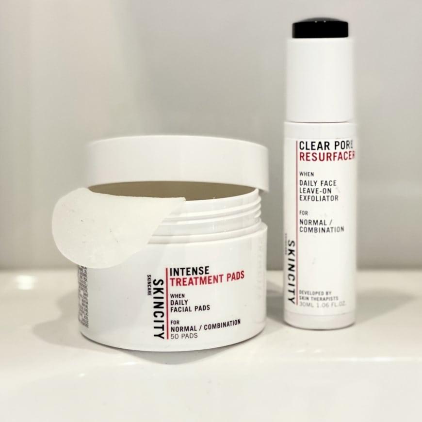 Intense Treatment Pads och Clear Pore Resurfacer