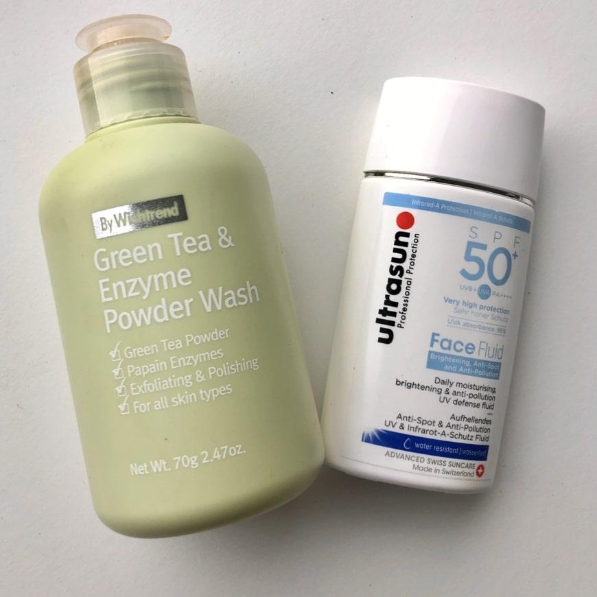 By Wishtrend Green Tea & Enzyme Powder Wash Ultrasun Face Fluid