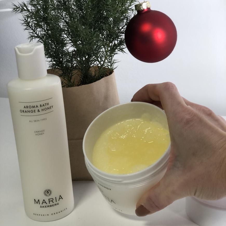 Milk Bath Orange & Honey med Apelsinolja och Honung och Saltscrub Energy