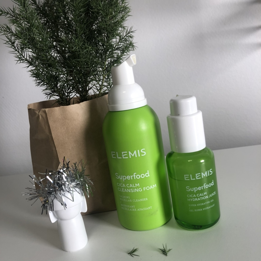 Superfood CICA Calm Hydration Juice och Superfood CICA Calm Cleansing Foam