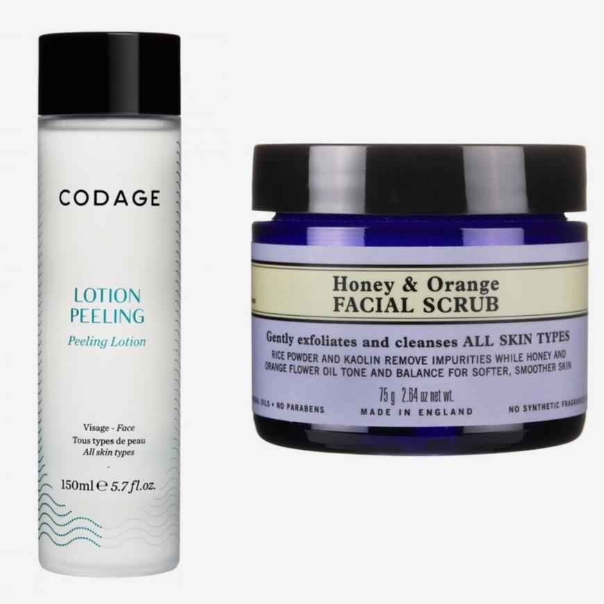 Codage Lotion Peeling och Neal´s Yard Remedies Honey & Orange Facial Scrub