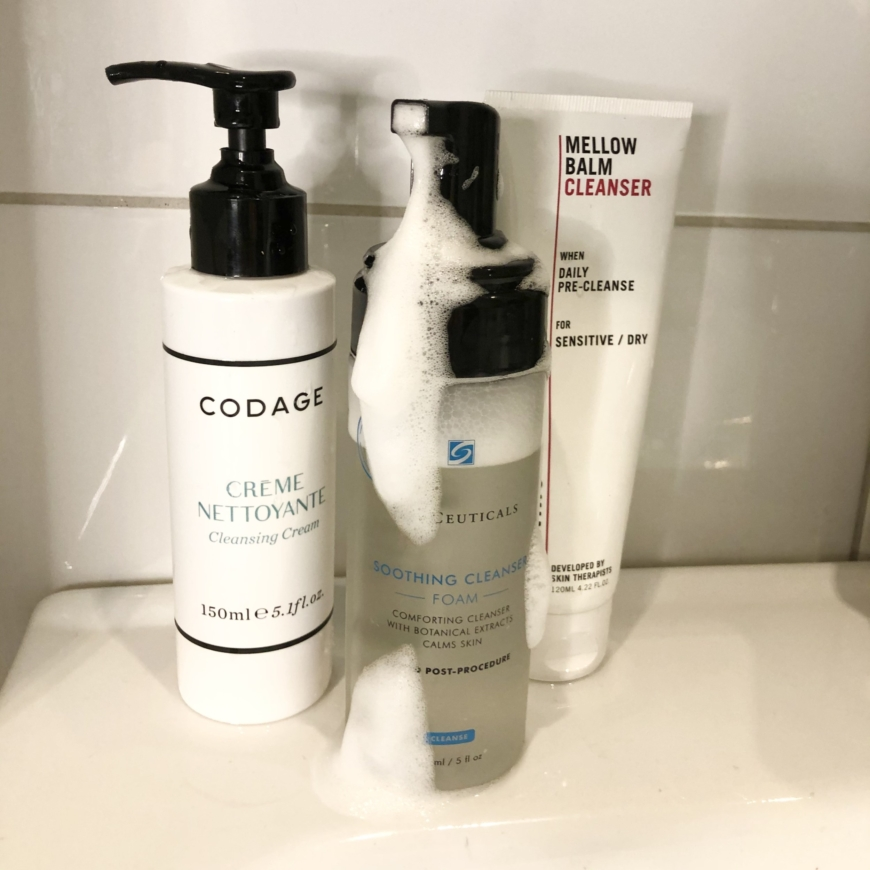 Codage Cleansing CReme, Soothing cleansing Foam och Mellow BalmCleanser