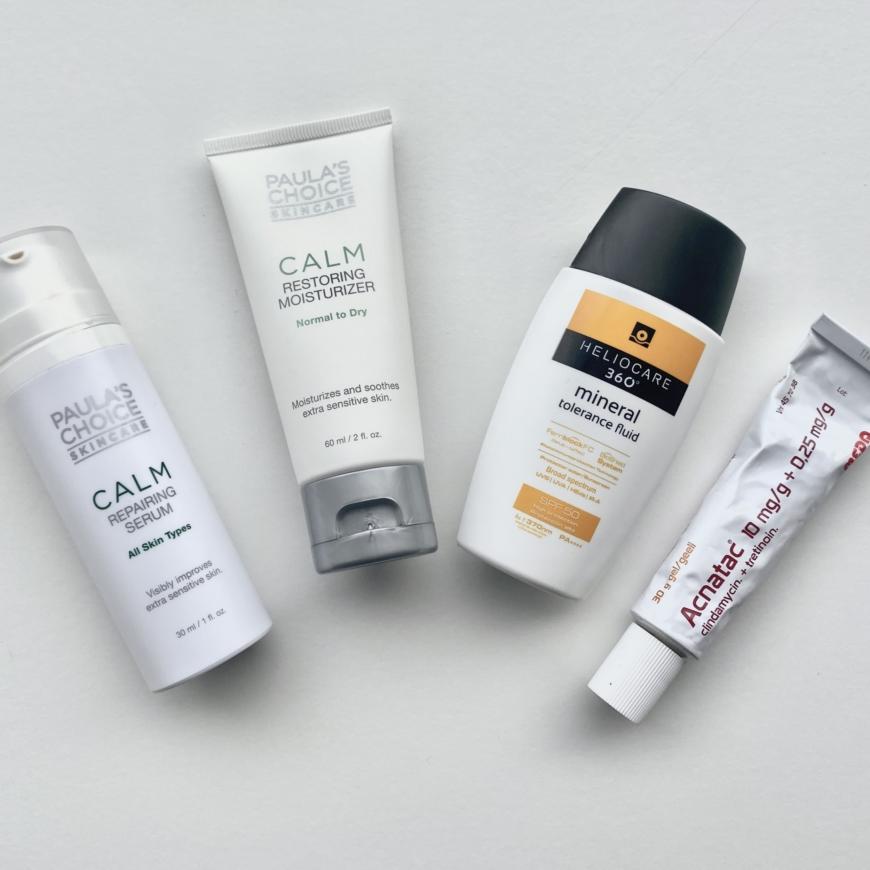 Cecilias rutin: serum, creme, spf och Acnatac