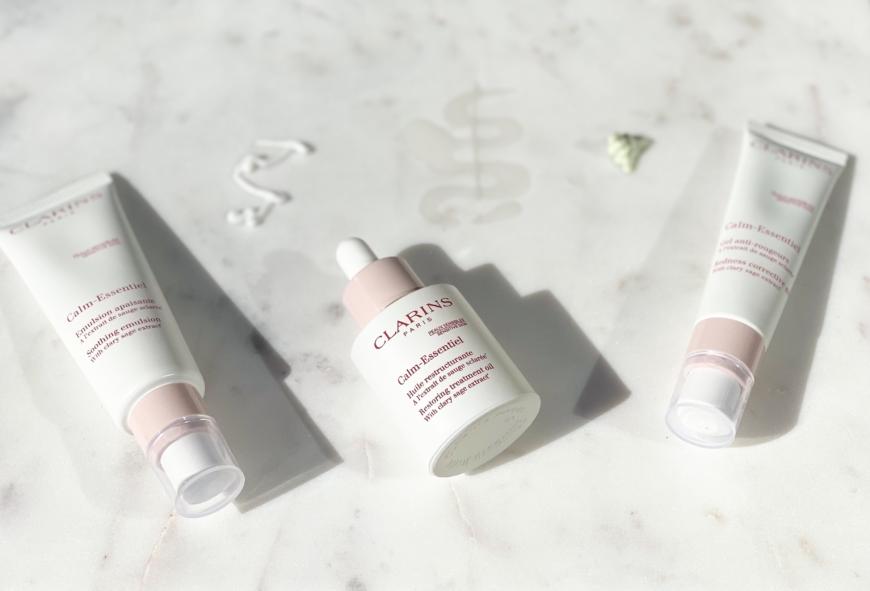 Bilder på tre produkter från Clarins