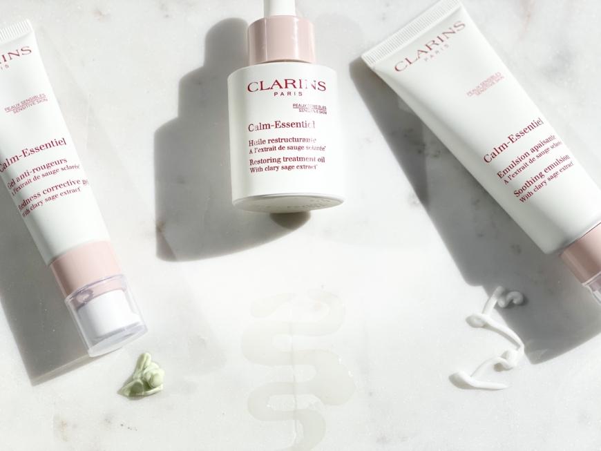 Calm Essentiel serien från Clarins har en härlig och fräsch doft som luktar renhet och fräschet