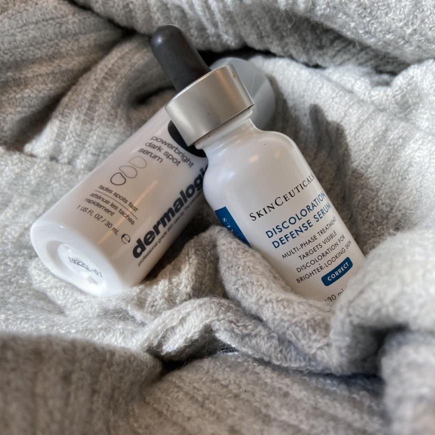 Discoloration defence serum och Powerbright dark spot serum