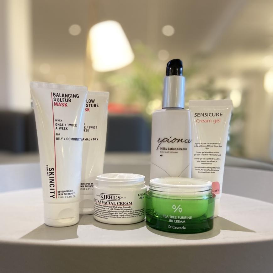 Produkter för olika hudtyper