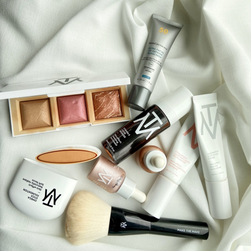 makethemake produkter och Skinceuticals solskydd