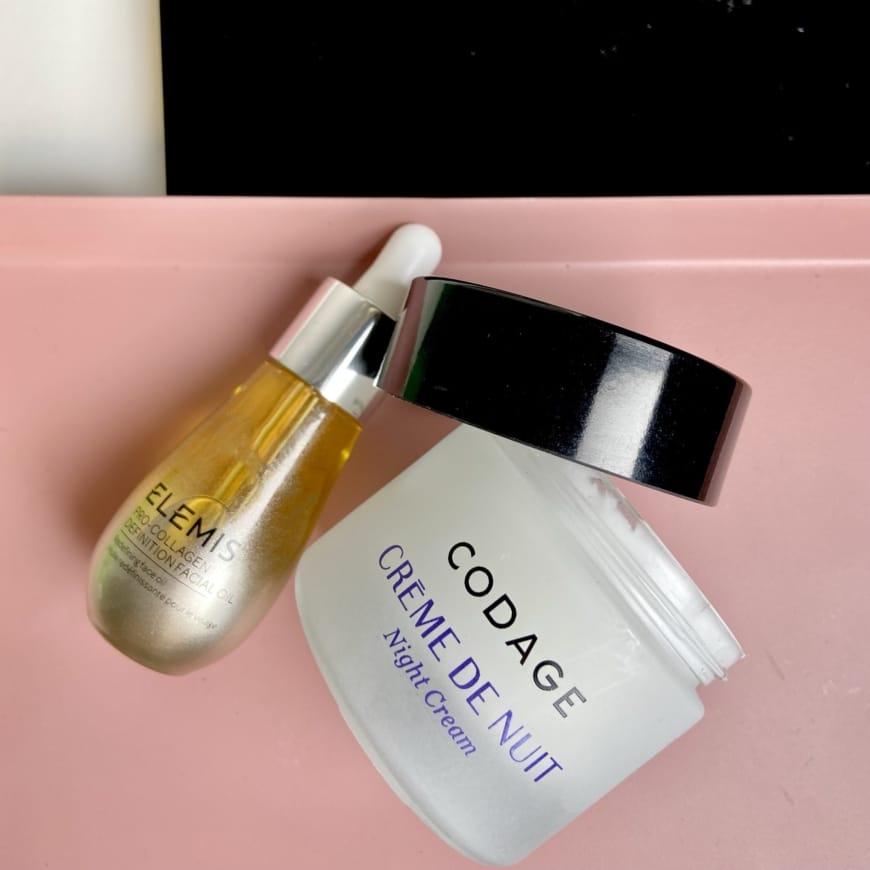 Elemis facial oil och codage night Cream